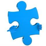 Figura punto di puzzle Fotografie Stock Libere da Diritti