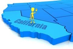 Figura que está em Califórnia Imagens de Stock Royalty Free