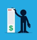 Figura que guarda grande Bill Imagens de Stock