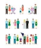 Figura raccolta della famiglia Fotografie Stock