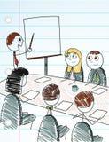Figura riunione d'affari del bastone Fotografie Stock