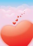 Figura rossa del cuore Immagini Stock Libere da Diritti