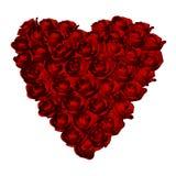 Figura rossa del cuore delle rose Fotografie Stock