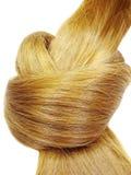 Figura rossa del cuore di coiffure dei capelli fotografia stock