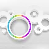 Figura rotonda con il cerchio al neon multicolore Immagine Stock Libera da Diritti