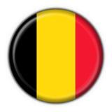 Figura rotonda della bandierina del tasto del Belgio Immagine Stock