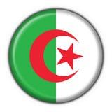 Figura rotonda della bandierina del tasto dell'Algeria Immagine Stock Libera da Diritti