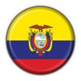 Figura rotonda della bandierina del tasto dell'Ecuador royalty illustrazione gratis
