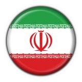 Figura rotonda della bandierina del tasto dell'Iran Fotografie Stock Libere da Diritti