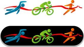 Figura semplice icona del bastone di triathlon illustrazione vettoriale