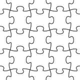 Figura senza giunte di puzzle di vettore Fotografie Stock