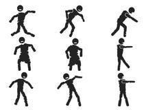 Figura sistema del palillo del zombi Imagen de archivo