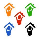 Figura sob o telhado Foto de Stock