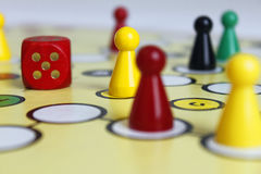 Figura sorte do jogo do jogo do boardgame irritada Fotos de Stock Royalty Free