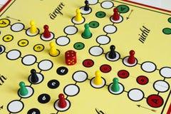 Figura sorte do jogo do jogo do boardgame irritada Fotografia de Stock Royalty Free
