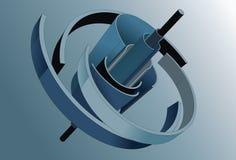 Figura a spirale astratta in 3D Fotografia Stock