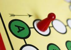 Figura suerte del juego del juego del boardgame enojada Foto de archivo