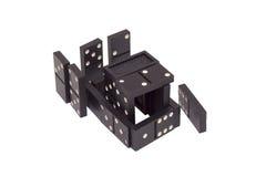 Figura sviluppata di domino dei chip Fotografia Stock Libera da Diritti