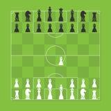 Figura tabla estilizada del ajedrez de la táctica del fútbol Imagen de archivo
