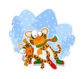 Figura tigres da patinagem Fotografia de Stock Royalty Free