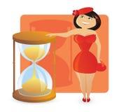 Figura tipos de las mujeres: reloj de arena atractivo foto de archivo libre de regalías