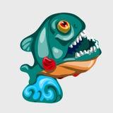 Figura Toothy tubarão com boca aberta Foto de Stock Royalty Free