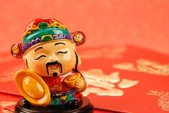 Figura tradicional chinesa do mammon imagens de stock
