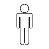 figura umana icona della siluetta illustrazione di stock