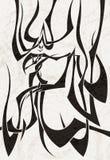 Figura umana nello stile tribale tatuaggio Fotografia Stock