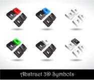 Figura variopinta dell'estratto 3D Fotografia Stock Libera da Diritti