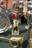 Figura velha do soldado na feira da ladra em Zagreb Fotografia de Stock Royalty Free