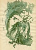 Figura verde stock de ilustración