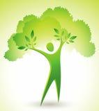 Figura verde del árbol ilustración del vector