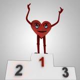 Figura vitórias do coração contra a doença Imagem de Stock Royalty Free