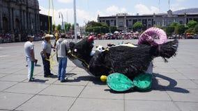 Figura y trabajadores grandes del papel de la rata imagen de archivo libre de regalías