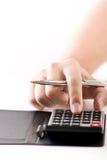 Figurando custos Imagens de Stock