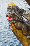 Figuranta lwa fregata Shtandart Fotografia Royalty Free