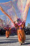 Figurants du chariot - la dernière neige blanche, carnaval de Viareggio, Toscane, Italy-1 images stock