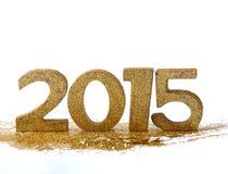 2015 figuras - Año Nuevo Fotos de archivo