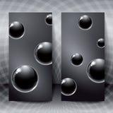 Figuras abstractas con las bolas de cristal negras dentro Fotos de archivo libres de regalías