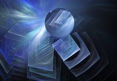 Figuras abstractas del hielo en fondo negro Imagen de archivo libre de regalías