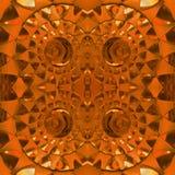 figuras abstratas com os faróis leves na cor, no fundo e na textura alaranjados Fotografia de Stock Royalty Free