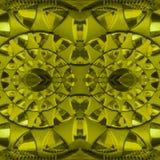 figuras abstratas com os faróis leves na cor, no fundo e na textura amarelos Foto de Stock Royalty Free