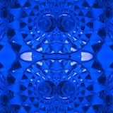 figuras abstratas com os faróis leves na cor, no fundo e na textura azuis Fotos de Stock