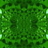 figuras abstratas com os faróis leves na cor verde, no fundo e na textura Imagens de Stock