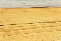 Figuras abstratas na areia Imagem de Stock Royalty Free