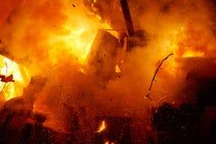 Figuras ardentes dos desenhos animados do fest popular de Fallas imagens de stock