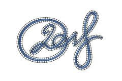 Figuras azuis elegantes novas do número da rotulação de 2018 anos isoladas no fundo branco ilustração 3D ilustração do vetor