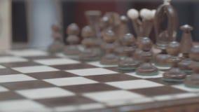 Figuras blancas del ajedrez metrajes