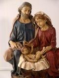 Figuras catolic de la Navidad religiosa Fotos de archivo